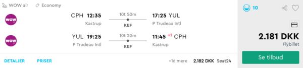 Billige flybilletter til Canada