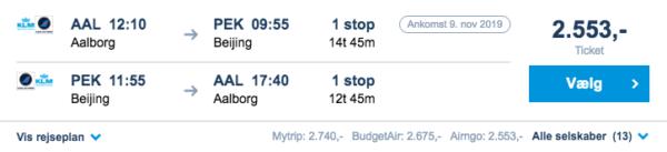 Billige flybilletter til Kina